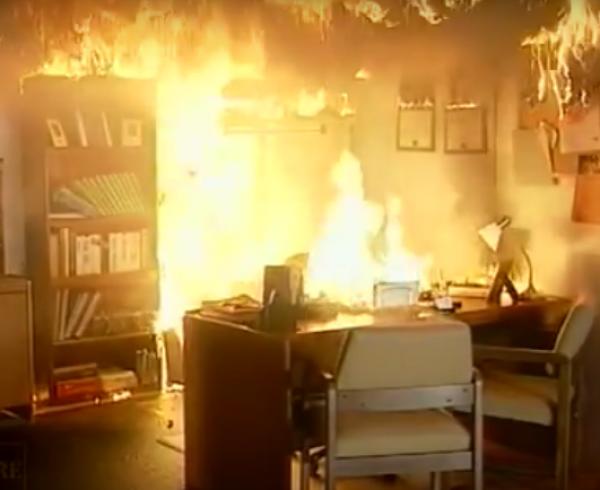 Incendio en una oficina